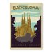 Americanflat Barcelona by Anderson Design Group Vintage Advertisement Wrapped on Canvas