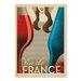 Americanflat Vin De France Vintage Advertisement Wrapped on Canvas