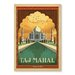 Americanflat Taj Mahal by Anderson Design Group Vintage Advertisement Wrapped on Canvas