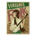 Americanflat Virginia Folk Print by Music Festival Collection Vintage Advertisement