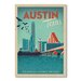 Americanflat Austin by Anderson Design Group Vintage Advertisement Wrapped on Canvas