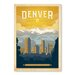 Americanflat Denver by Anderson Design Group Vintage Advertisement Wrapped on Canvas