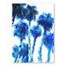Americanflat Trees Blue by Suren Nersisyan Art Print in Blue