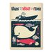 Americanflat Having a Whale of a Time Vintage Advertisemen Wrapped on Canvas