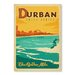 Americanflat Durban by Anderson Design Group Vintage Advertisement Wrapped on Canvas