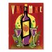 Americanflat Vin Du Monde by Diego Patino Vintage Advertisement Wrapped on Canvas