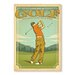 Americanflat Good Day at Golf Vintage Advertisement Wrapped on Canvas