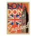 Americanflat London Flag Vintage Advertisement Wrapped on Canvas