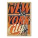 Americanflat NYC Welcomes You by Anderson Vintage Advertisement Wrapped on Canvas