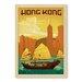 Americanflat Hong Kong by Anderson Design Group Vintage Advertisement in Orange
