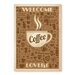 Americanflat Welcome Coffee Lovers by Anderson Design Group Vintage Advertisement in Brown