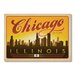 Americanflat Chicago Skyline by Anderson Design Group Vintage Advertisement Wrapped on Canvas