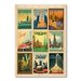 Americanflat Chicago Multi Print II by Anderson Design Group Vintage Advertisement Wrapped on Canvas