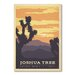 Americanflat NP - Joshua Tree 1001 by Anderson Vintage Advertisement Wrapped on Canvas