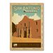 Americanflat San Antonio by Anderson Design Group Vintage Advertisement Wrapped on Canvas
