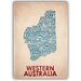 Americanflat Western Australia Typography on Canvas