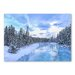 Americanflat Forest Snow 2 by Lina Kremsdorf Photographic Print in Blue