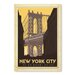 Americanflat New York Manhattan Bridge Vintage Advertisement Wrapped on Canvas
