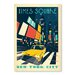 Americanflat Times Square Vintage Advertisement Wrapped on Canvas
