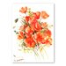 Americanflat Flowers by Suren Nersisyan Art Print in Orange