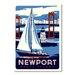 Americanflat Newport by Matthew Schnepf Vintage Advertisement on Canvas