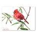 Americanflat Caridnal Bird III by Suren Nersisyan Art Print in Red