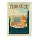 Americanflat Florence Italy by Anderson Design Group Vintage Advertisement Wrapped on Canvas