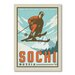 Americanflat Sochi Vintage Advertisement Wrapped on Canvas