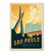 Americanflat Sao Paolo by Anderson Design Group Vintage Advertisement Wrapped on Canvas