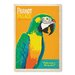 Americanflat Parrot Place Vintage Advertisement Wrapped on Canvas
