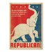 Americanflat Vote Republican by Anderson Design Group Vintage Advertisement Wrapped on Canvas