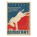 Americanflat Vote Democrat by Anderson Design Group Vintage Advertisement