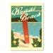 Americanflat Waikiki by Diego Patino Vintage Advertisement in Blue