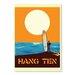 Americanflat Hang Ten by Diego Patino Vintage Advertisement in Orange