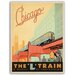 Americanflat Chicago L Train Vintage Advertisement Wrapped on Canvas