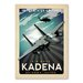 Americanflat Air Base Kadena Vintage Advertisement Wrapped on Canvas