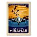 Americanflat Air Station Miramar Vintage Advertisement Wrapped on Canvas