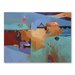 Americanflat Blue Atlas Art Print Wrapped on Canvas