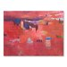 Americanflat High Atlas Reds Art Print Wrapped on Canvas