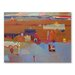 Americanflat Lakeside Dwellings Art Print Wrapped on Canvas