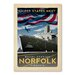 Americanflat Norfolk Vintage Advertisement Wrapped on Canvas