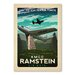 Americanflat KMCC Ramstein Vintage Advertisement Wrapped on Canvas