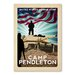 Americanflat Camp Pendleton Vintage Advertisement Wrapped on Canvas
