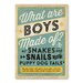 Americanflat Boys Are Made of Poster Vintage Advertisement