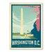 Americanflat Washington DC Cherry Blossom Vintage Advertisement
