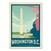 Americanflat Washington DC Cherry Blossom Vintage Advertisement Wrapped on Canvas