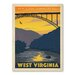 Americanflat Asa Westvirginia Vintage Advertisement Wrapped on Canvas