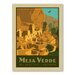 Americanflat Asa National Park Mesaverde Vintage Advertisement Wrapped on Canvas