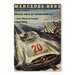 Americanflat Mercedes Vintage Advertisement Wrapped on Canvas