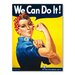 Americanflat Rosie The Riveter Vintage Advertisement on Canvas
